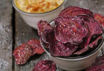 Baked Rosemary Beet Chips