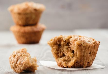 Carrot cake muffin on a napkin