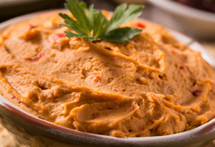 Homemade Red Pepper Hummus