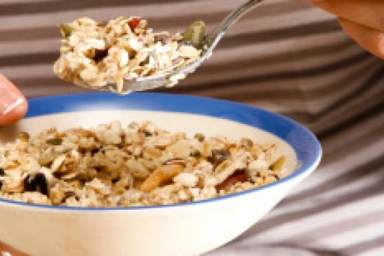 Photo: Close-up of bowl of oatmeal