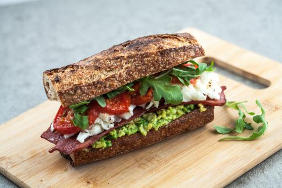 Breakfast BLT with Grilled Tomatoes