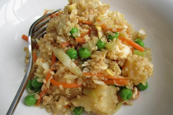 "Quick and Healthy Pineapple ""Fried Rice"""
