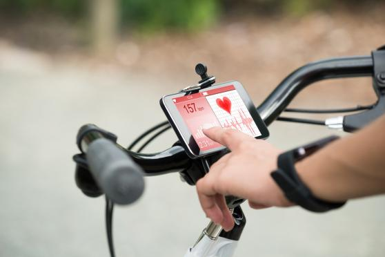 Fitness tool on bike