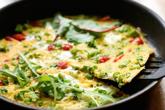 Frittata with vegetables