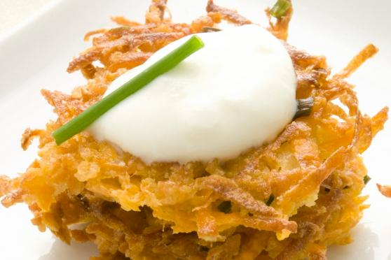 Photo: Baked Sweet Potato Latkes